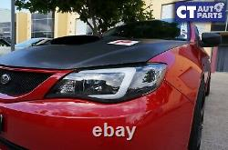 LED 3D Stripe DRL Projector Head Lights for Subaru Impreza WRX 08-13 HID TYPE