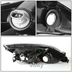 (LED DRL LIGHT BAR) Black/Amber Corner Headlight Lamps for 03-07 Honda Accord