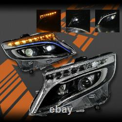 LED DRL Sequential Indicator Head lights for Benz W447 Van V-Class Vito Valente
