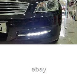 LED Fog Daytime Light DRL + Covers Black L+R SET For INFINITI 06 07 08 G35