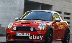 LED Rally Driving Lights Halo Ring Daytime Running Lamps For MINI Cooper (Black)