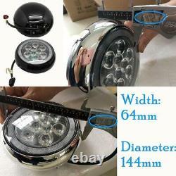 LED Rally Light Kit for Mini Cooper R50 R52 R53 01-06 Black Shell White Halo DRL