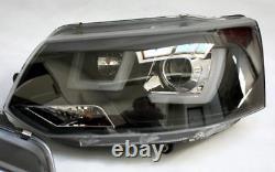 Lightbar DRL TFL daytime light headlights in Black finish for VW T5 from 2009