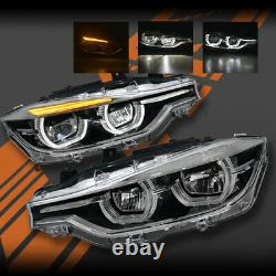 M3 Style Full LED & DRL Head Lights for BMW 3 Series F30 F31 2012-2015 Pre LCI