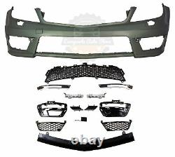 MERCEDES BENZ C63 STYLE FRONT BUMPER With LED DRL FOR 08-14 W204 C CLASS With PDC