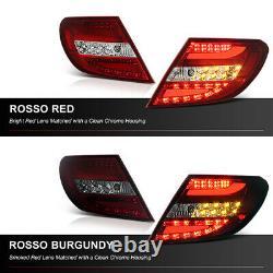 M-Benz W204 11-14 SMOKE/RED Ultra Bright LED Tail Light Brake Signal C300/C350