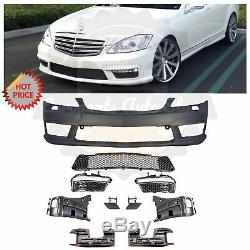 Mercedes Benz S63 Amg Facelift Front Bumper For 2007-2012 W221 S Class No Pdc