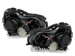 Mercedes Clk W209 2004-2009 Black Led Drl Daylight Running Lights Headlights