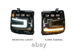 Morimoto LED Plug & Play Headlights Chrome Trim For 16-18 Chevy Silverado 1500