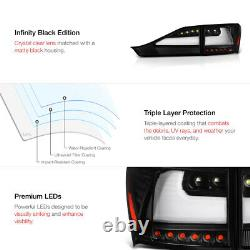 NEWEST NX-STYLE Black OLED Tail Light LED Brake Lamp For 2011-13 Lexus CT200H