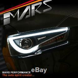 Neon LED DRL Projector Head Lights for Mitsubishi Lancer CJ CF Evolution EVO X