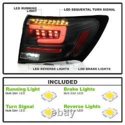OLED TUBE LED Tail Brake Light Signal Lamp Pair For 08-14 Subaru WRX/STI Sedan