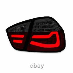 Original LED Lightbar Back Rear Tail Lights Black Red For BMW 3er E90 Since