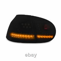 Original Newdesign LED Rear Lights Black Dynamic Run Flasher For VW GOLF 5