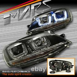 R Style DRL U BAR Projector Head Lights LED Indicator for VolksWagen VW Golf 7