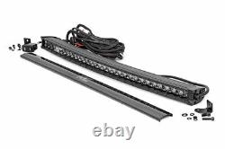 Rough Country 30 Curved Black Single Row CREE LED Light Bar with DRL