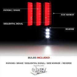 SEQUENTIAL Signal For 07-18 Jeep Wrangler Black Bezel Full LED Tail Light Lamp