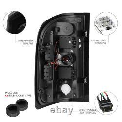 SINISTER BLACK For 07-13 Chevy Silverado 1500 2500HD 3500HD Smoke LED Tail Light