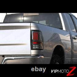 SMOKE 2010-2018 Dodge Ram 1500 2500 3500 FULL LED Rear Brake Tail Lights Lamps