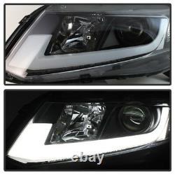 Spyder for Honda Civic 2012-2014 Projector Headlights Light Bar DRL Black PRO