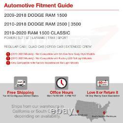 Super-Flux LED! 09-18 Dodge Ram Truck 1500 2500 3500 Black Tail Signal Light