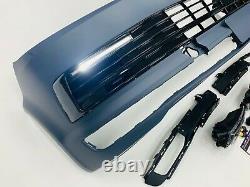 T6 Front Bumper Primed Gloss Black DRL Kit Led Fog Light Kit Transporter