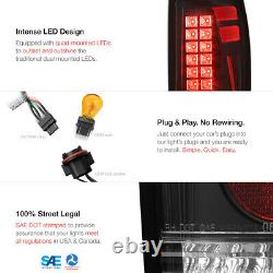 TRIBAL DESIGN For 02-06 Chevy Avalanche Black LED Tail Light Brake Signal Lamp