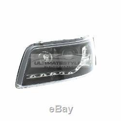 VW T5 2003-2010 Black DRL Devil Eye R8 Head Light Lamp Pair Left & Right