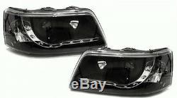 VW Transporter T5 (2003-2010) Black DRL Devil Angel Eyes Front Headlights Lights