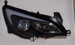Vauxhall Astra J Mk6 (09-14) Black Drl Led Light Bar Projector Front Headlights