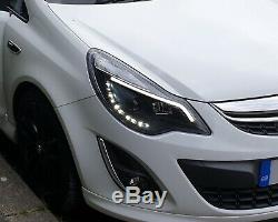 Vauxhall Corsa D 2011 On Black Led Drl Light Bar Drl Daytime Running Headlights