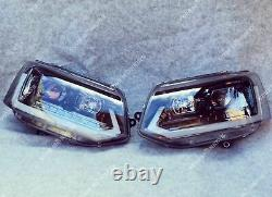 Vw T5.1 Drl Gloss Black Headlights Led Projector Light Dynamic Sequential