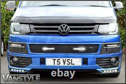 Vw T5.1 Transporter Black Front Zunsport Grille Led Drl Day Time Running Lights