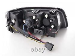 Vw T5 Caravelle Black R8 Led Drl Daylight Running Lights Devil Eye Headlights