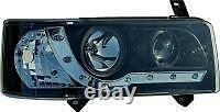 Vw Transporter T4 Black R8 Devil Eye Headlights Drl