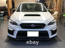 White/Amber Sequential/Switchback LED DRL Fog Bezels For 2018-up Subaru WRX STI