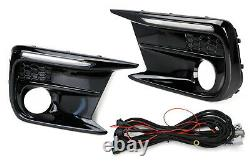 White/Amber Switchback/Sequential LED Fog Bezel DRL Kit For 18-up Subaru WRX/STi