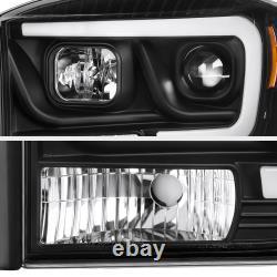 06-08 Dodge Ram 1500 Pickup Camion Noir Led Projecteur De Tube Phare