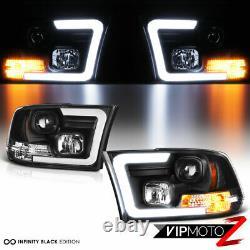09-18 Dodge Ram Ram Pickup Led Neon Tube C-shape Drl Projecteur Phare Lampe Black