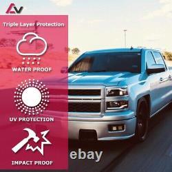 14-15 Pour Chevy Silverado Chrome Projecteur Noir Phares Led Drl Barre De Lumière