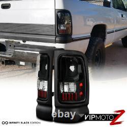1994-2001 Dodge Ram Obsidian Black Drl Phares Led Feux Arrière Projecteur Brouillard