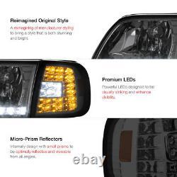 1997-2003 F150 Lariat Smoke Parking Drl Phares Black Tail Lights Assembly Led
