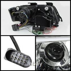 1998-2001 Audi A6 C5 Black Ultra Neon Tube Led Drl Projecteur Phares Pair