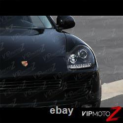 2003-2006 Porsche Cayenne 955 Xenon Hid Black Left Droite Phares Lampe Led Drl