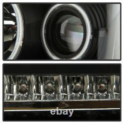 2007-2012 Dodge Nitro Ccfl Halo Drl Projecteur Phares Avec Lampe De Lumière Signalled