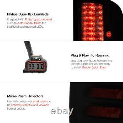 2007-2013 Gmc Sierra Black Halo Drl Projecteur Phares Led Smoke Tail Lights