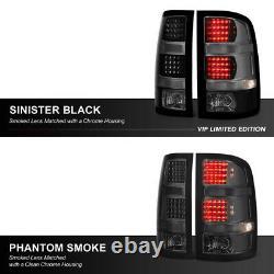 2007-2013 Gmc Sierra Sinister Black High Power Led Taillights Frein Gauche Droite