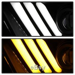 2010-2014 Ford Mustang Séquentielles Drl Led Phares Frontales Lumières 10 11 12