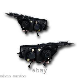 2011-2016 Chevy Cruze Double Projecteur Led Drl Signal Tête Noire Lumières Winjet