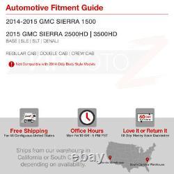 2014 2015 Gmc Sierra 1500 2500hd 3500hd Noir Oled Drl Neon Tube Phares Lampe